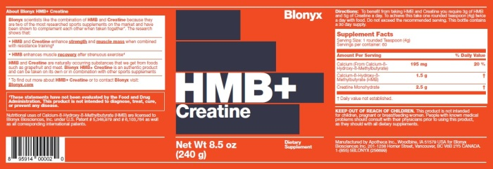 HMB+Creatine Label
